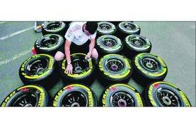 تفاوت تایرهای پیرلی در مسابقات «F1»