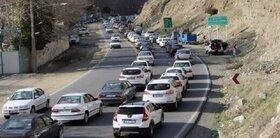 بازگشت مسافران و ترافیک در جاده کرج - چالوس