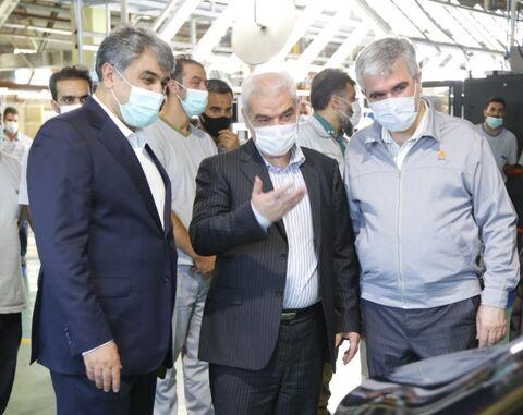 بازدید محسن صالحی نیا معاون وزیر صمت و رییس ایدرو از گروه سایپا