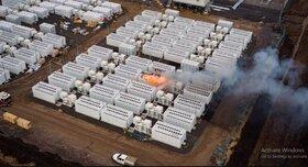آتش سوزی در سایت تسلا در استرالیا