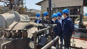 بازدید مدیرعامل شرکت نفت ایرانول از پروژه مومگیری پالایشگاه روغنسازی تهران