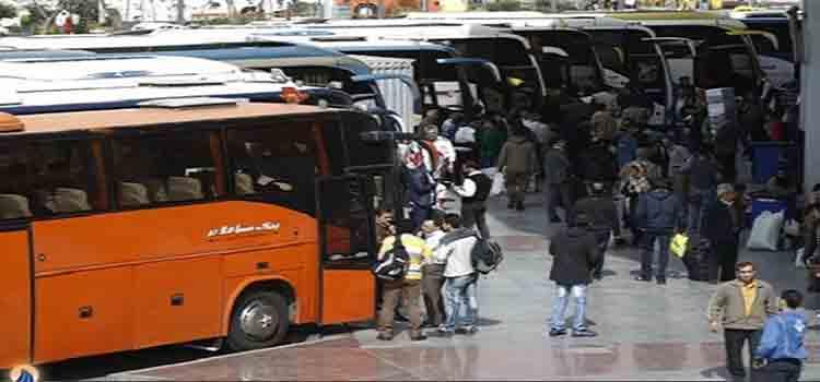 مسافران اتوبوس های بین شهری